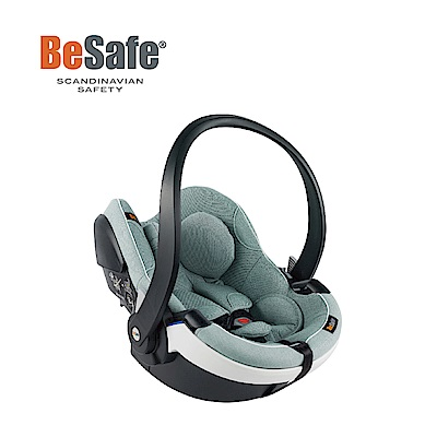 BeSafe iZi Go Modular模組化兒童汽座提籃-芬蘭綠(白飾邊)