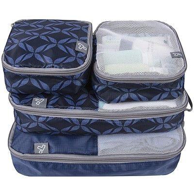 《TRAVELON》盥洗收納袋4件(藍)
