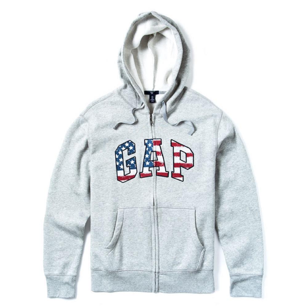 GAP 經典LOGO連帽外套-灰色