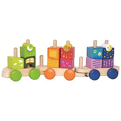 德國Hape愛傑卡 幻想堆疊積木列車