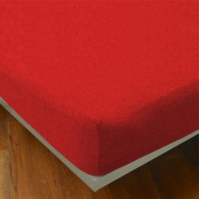 YVONNE COLLECTION 素面純棉床包(單人105x186公分)-紅