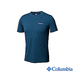 Columbia哥倫比亞 男款-UPF30快排涼感短袖上衣-深藍UAM60840NY