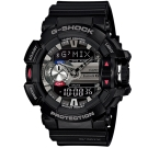 G-SHOCK MIX玩酷生活音樂控制藍芽錶(GBA-400-1)-黑/55mm