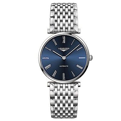 LONGINES 浪琴 La Grande 嘉嵐機械錶-藍x銀/36mm