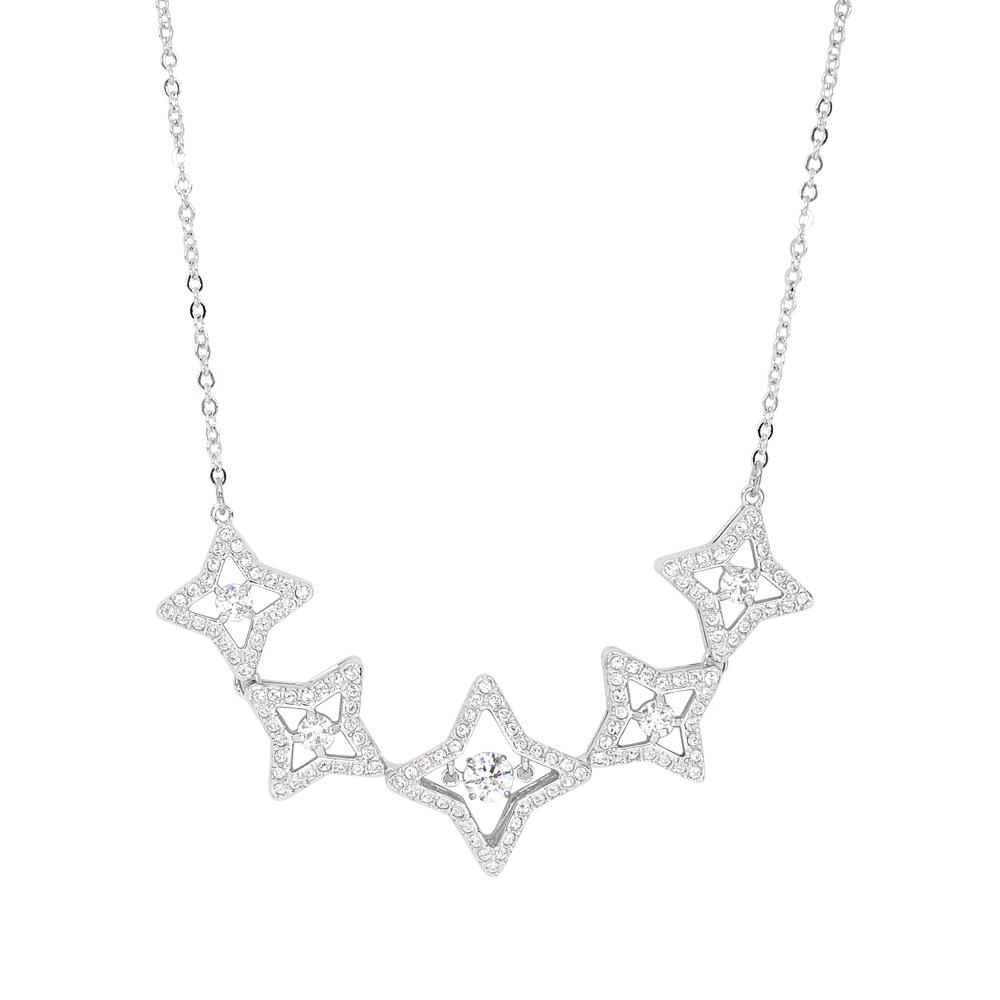 SWAROVSKI 施華洛世奇 璀璨浮動水晶星形銀色項鍊