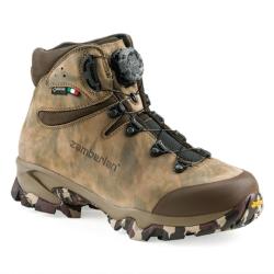 ZAMBERLAN 旋緊式防水中筒皮革重裝登山鞋 / 獵靴 綠迷彩 4013PM0G-0C