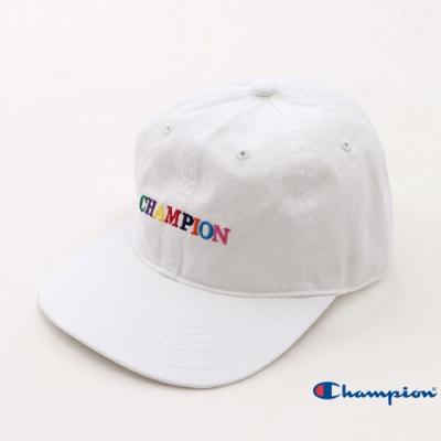 Champion 彩色LOGO棒球帽 白色