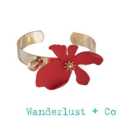 Wanderlust+Co 山茶花手環 - 熱情紅