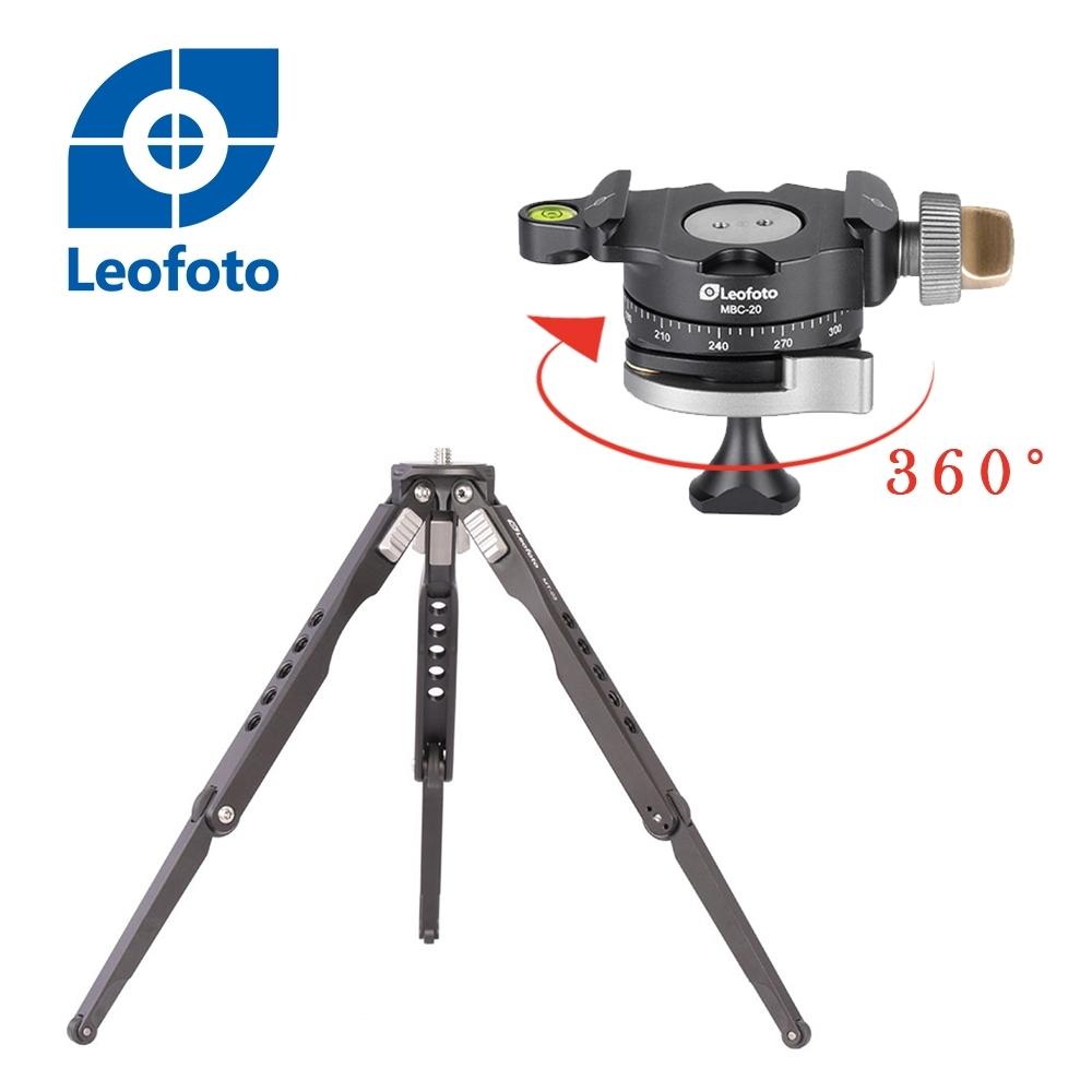 Leofoto 徠圖 MT-03+MBC-20鋁合金蜘蛛桌面三腳架 (含迷你多功全景雲台)