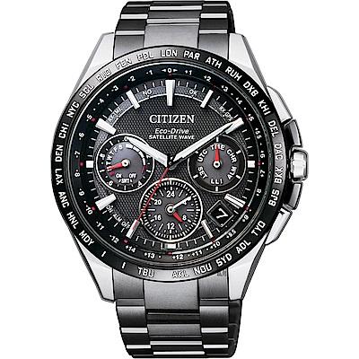 CITIZEN 星辰 光動能鈦GPS衛星對時錶(CC9015-62E)-黑/43.5mm