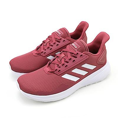 ADIDAS-DURAMO 9女慢跑鞋-紅