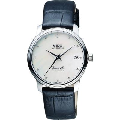 MIDO Baroncelli III Heritage 真鑽機械女錶-珍珠貝/35mm