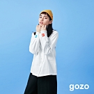 gozo 逃跑小人繡線隱藏扣襯衫(二色)