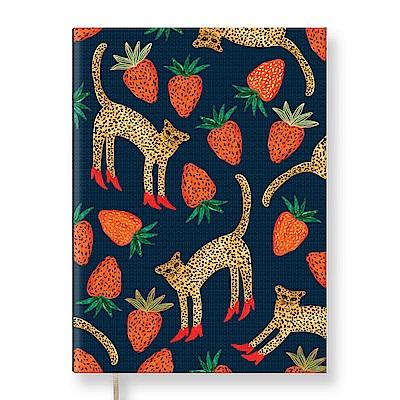 7321 Design BBH 精裝本-空白筆記本-愛吃草莓的豹