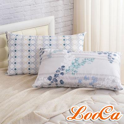 LooCa 法國防蹣防蚊技術-支撐枕2入(迷葉)