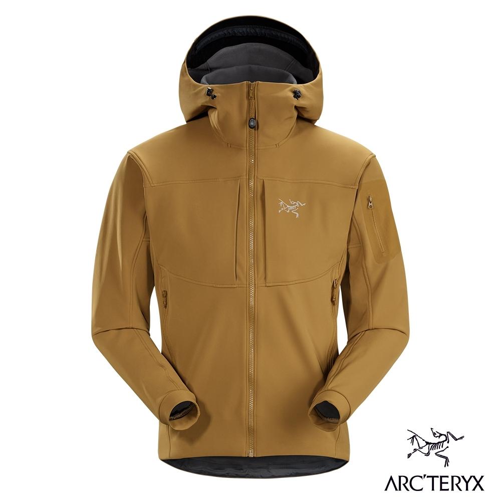 Arcteryx 始祖鳥 男 Gamma MX 抗水抗風 保暖 連帽軟殼外套 育空褐