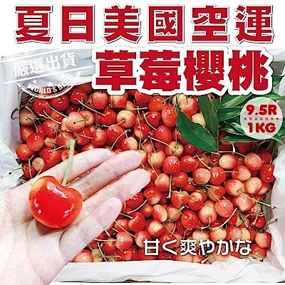【天天果園】美國空運草莓白櫻桃9.5R x1kg
