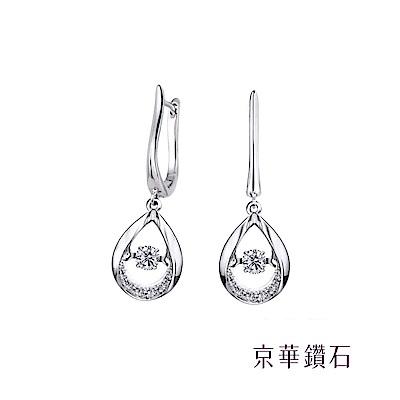 京華鑽石  耳環 跳舞鑽系列之芭蕾女伶 18K金