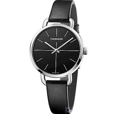 Calvin Klein K7B even 超然時尚腕錶(K7B231CZ)黑/36mm