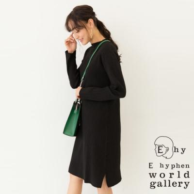 E hyphen 羅紋微高領針織連身裙