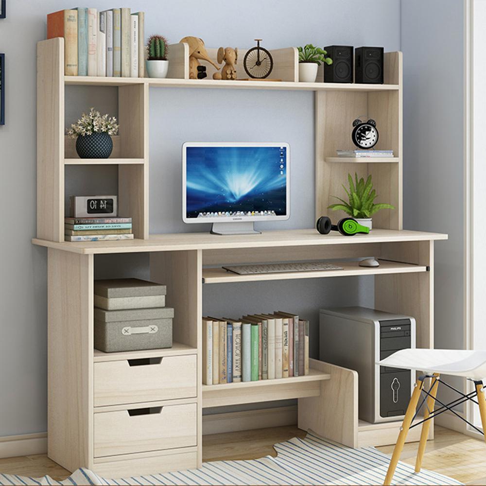 【Incare】多層收納簡約書桌/電腦桌(兩色任選/120x131.5x45cm)