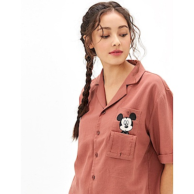 CACO-米奇款短襯衫(兩色)-女【TDI077】
