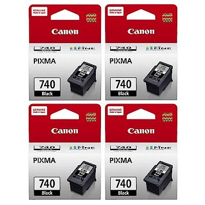 Canon PG-740 原廠黑色墨水匣(五入組)