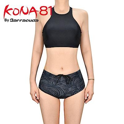 酷吶81 削肩式運動抗UV兩件式泳裝 KONA81 GLBT W 17 黑