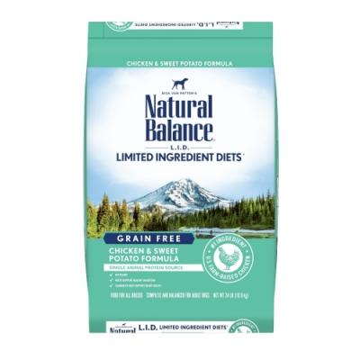 Natural Balance 低敏無穀地瓜雞肉成犬配方(原顆粒) 24LBS/10.9KG