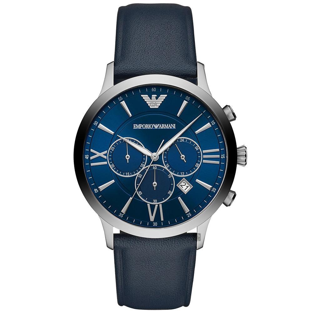Emporio Armani 義式藍調經典計時手錶(AR11226)-43mm