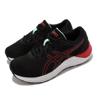 Asics 慢跑鞋 GEL Excite 8 GS 女鞋 亞瑟士 路跑 緩震 輕量 透氣 大童 黑 紅 1014A201009