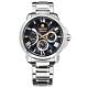 SEIKO 精工 Premier 人動電能 月相錶 不鏽鋼手錶-深藍色/42mm product thumbnail 1