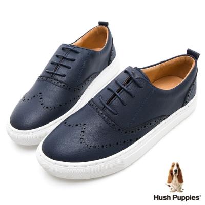 Hush Puppies Cocker 女牛津休閒鞋-深藍色