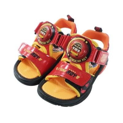 台灣製POLI羅伊款男童閃燈涼鞋 sa91122 魔法Baby