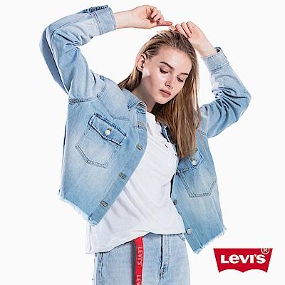 牛仔襯衫 女裝 淺色刷白 - Levis
