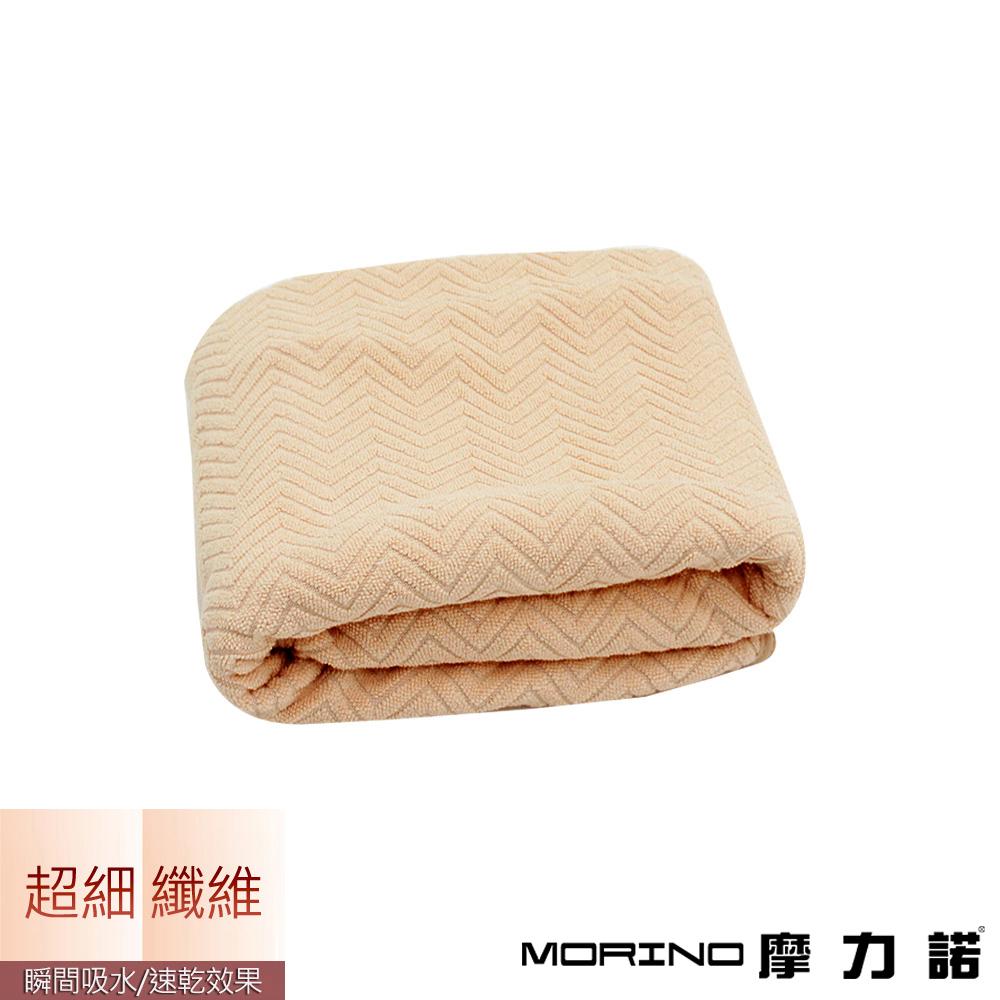 MORINO摩力諾 超細纖維緹花毛巾-卡其