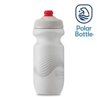 Polar Bottle 20oz 單層噴射水壺 WAVE 白