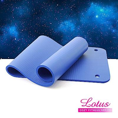 福利品 加長加厚15mm打孔瑜珈健身墊-寧靜藍