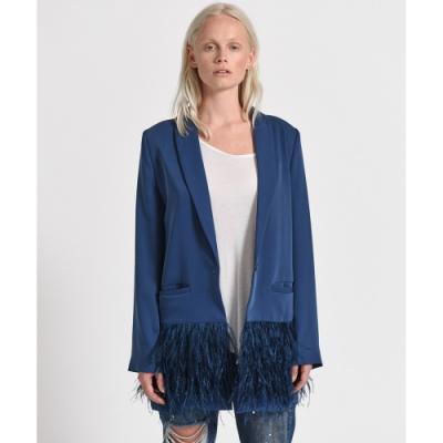 ONETEASPOON FEATHER BLAZER 藍 下擺造型西裝外套-女