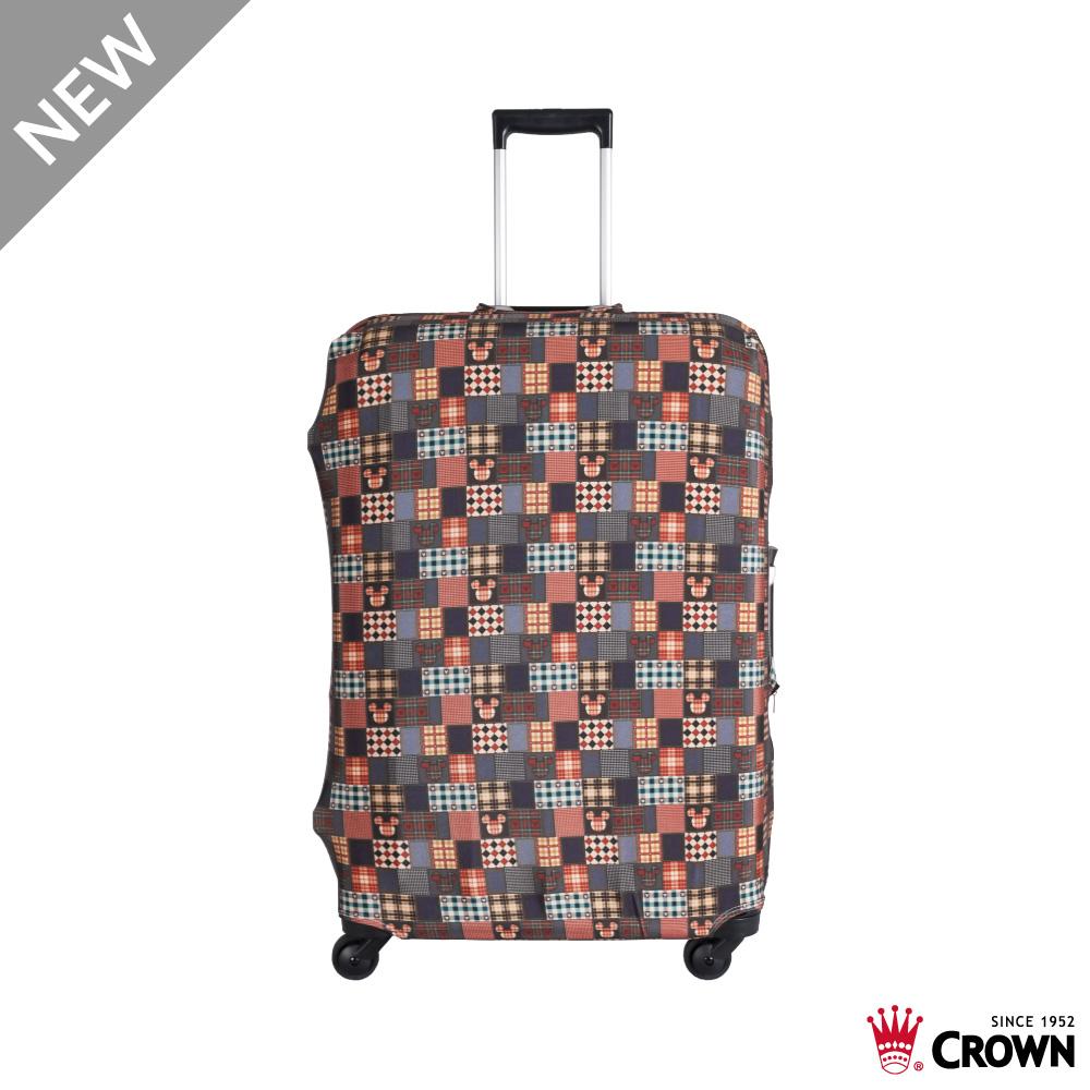 CROWN 皇冠 行李箱保護套 19~24吋 復古棕米奇