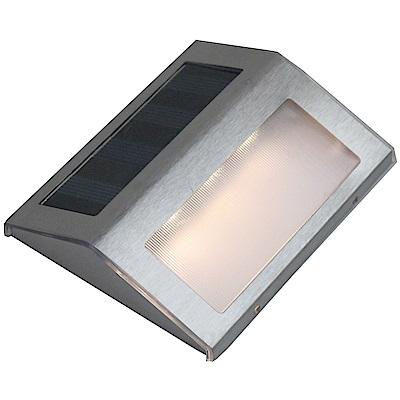 月陽不鏽鋼太陽能自動光控3LED台階燈璧燈庭園燈(ST108)