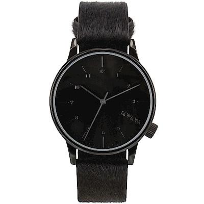 KOMONO Winston Monte Carlo 腕錶-黑色小馬/41mm