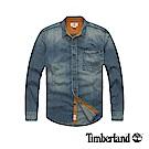 Timberland 男款藍色長袖牛仔襯衫|A11AB