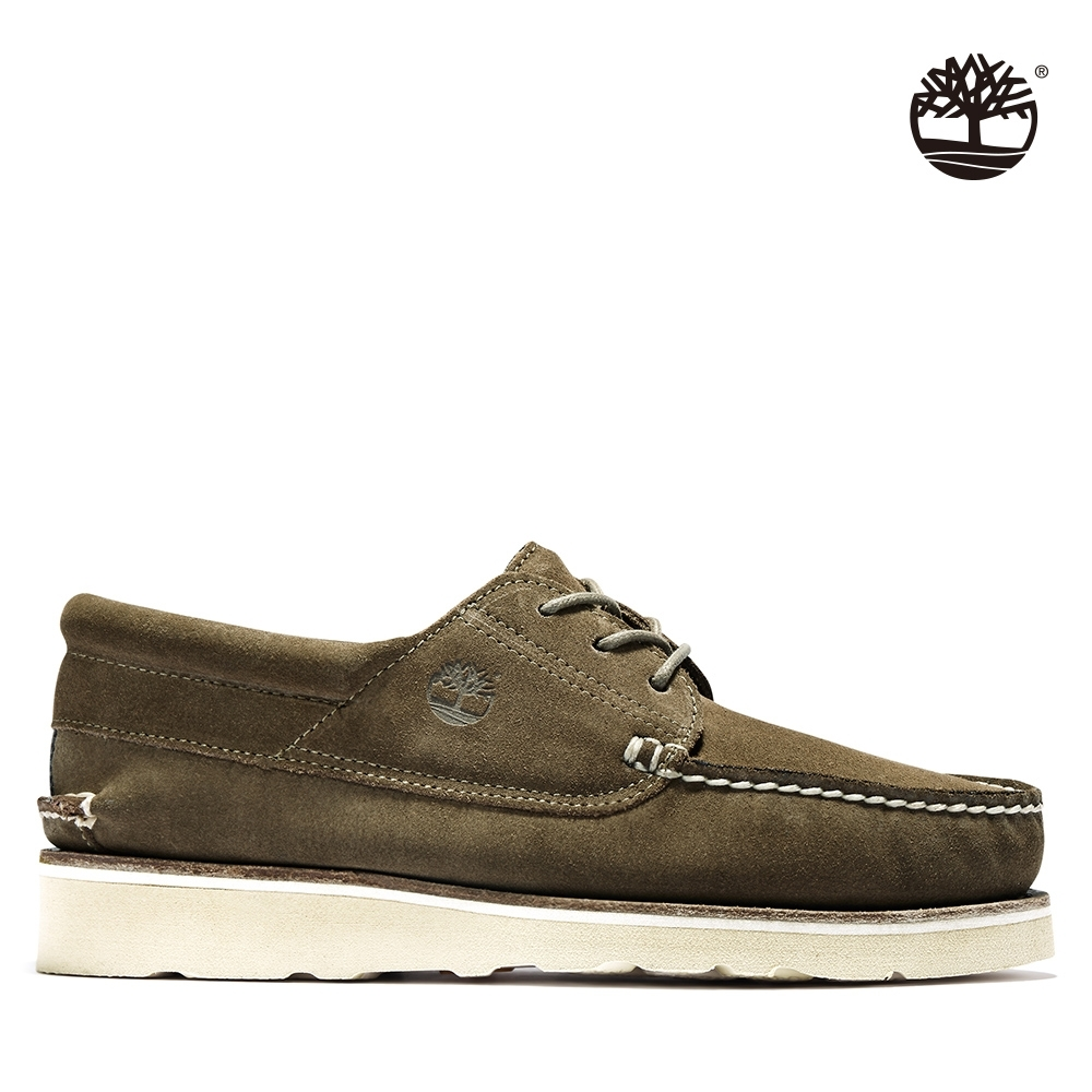 Timberland 男款橄欖綠絨面革休閒系帶帆船鞋|A2NVE product image 1