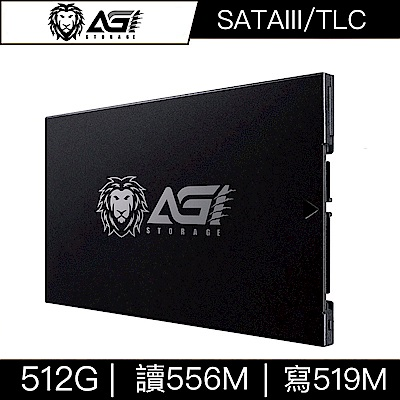 AGI亞奇雷 AI178 512G SATA TLC 2.5吋固態硬碟(讀:556M/寫:519M)