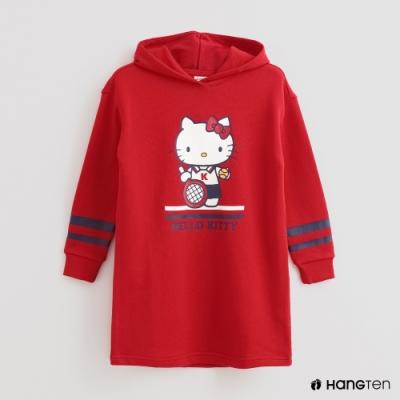 Hang Ten -童裝 - Sanrio-休閒圖樣連帽長版上衣 - 紅