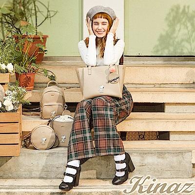 KINAZ x PEANUTS™ 城市郊遊兩用斜背托特包-糖霜歐蕾-好日子系列-快