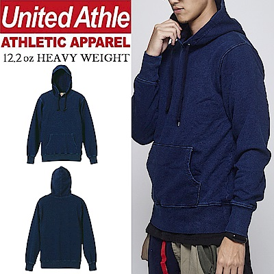 日本United Athle 12.2oz丹寧連帽T 重磅denim