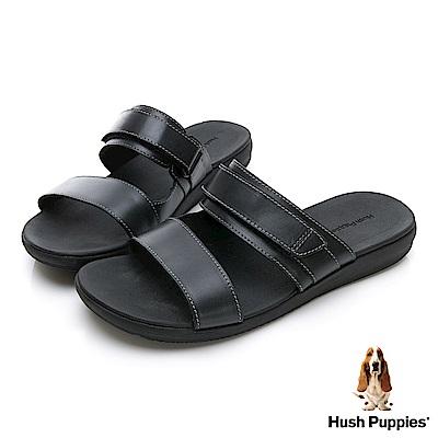 Hush Puppies ZERO G 輕量涼拖鞋-幻黑