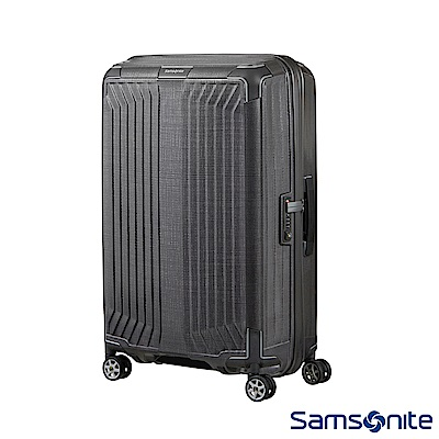Samsonite新秀麗 25吋Lite-Box耐衝擊Curv垂直線條登機箱 碳灰
